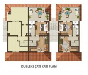 Dubleks Çatı Katı Planı